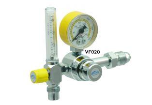 Válvula Reguladora para Cilindro com Fluxômetro de Ar Comprimido