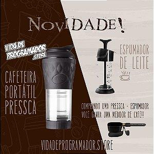 Cafeteira Pressca + Espumador (Brinde: dosador)