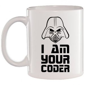 Caneca Branca I Am Your Coder