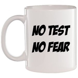 Caneca Branca No Test, No Fear