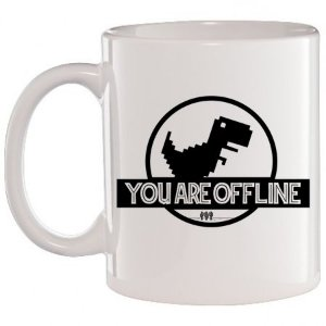 Caneca Branca You Are Offline