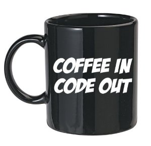 Caneca Preta Coffee In Code Out