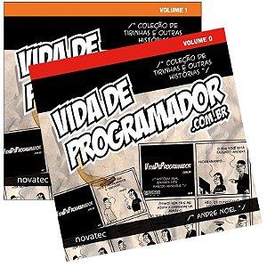 Coleção Livro Vida de Programador - Volume 0 e 1 - AUTOGRAFADO e com FRETE GRÁTIS