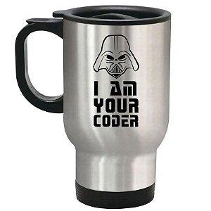 Caneca Térmica Prata I Am Your Coder