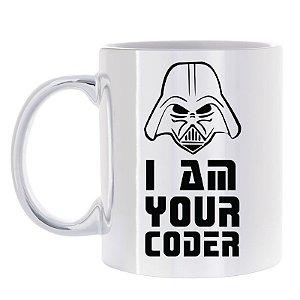 Caneca Prata I Am Your Coder