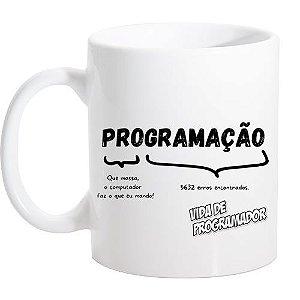 Caneca Branca Programação
