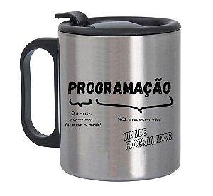 Caneca de Alumínio com Tampa para Viagem Programação