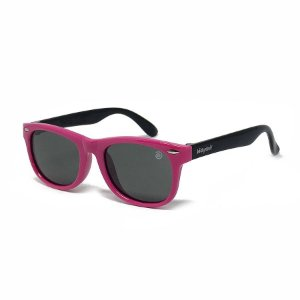 Óculos de Sol Flexível - Rosa e Preto