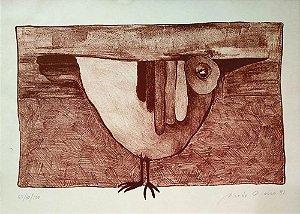 Ricardo Onório - Pássaro, Gravura Original Assinada e Datada 1981