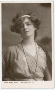 Cartão Postal Antigo Original, Fotografia da Atriz de Teatro Inglesa Gabrielle Ray, Moda