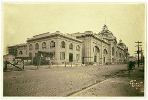 São Paulo - Fotografia Original Antiga da Construção do Mercado Municipal da Cantareira