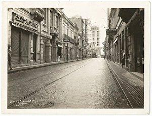 São Paulo - Fotografia Original Antiga do Centro da Cidade, Mostra Comercio e Farmácias
