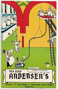 Cartão Postal Antigo Americano, Publicidade da Sopa de Ervilhas Andersen's, Ilustrado