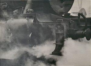 """JEAN LECOCQ - Fotógrafo Premiado - Fotografia Original Titulada """"Primeira Arrancada"""" Estação de Trem São Paulo - 40x30cm"""