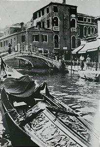 JEAN LECOCQ - Fotógrafo Premiado - Fotografia Original Vista de Veneza , Itália, a partir de Gôndola - 38x25cm