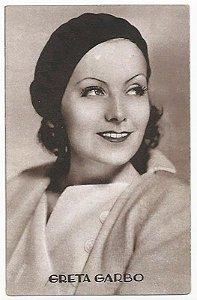 Cartão Postal Antigo Original - Atriz Greta Garbo, Hollywood