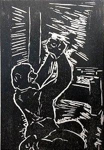Goeldi - Xilogravura Original para Romance de Dostoiévski