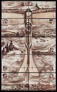 10 Cartões Postais, Raro Quebra-cabeça de Aviação, Santos Dumont