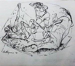 Castagnino, Juan Carlos - Desenho Original a Nanquim  Imagem de Dom Quixote