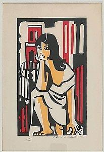 Di Cavalcanti - Gravura Original, Figura de Mulher, Assinada e Numerada
