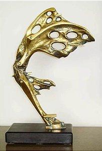 Calabrone, Domenico - Escultura em Bronze Feminino Butterfly, Assinada