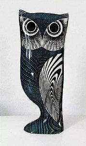 Palatnik, Abraham - Escultura Arte Cinética em Acrílico,  Figura de Coruja Dupla Face,   Assinada