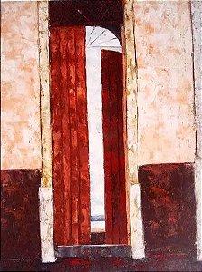 J. Paulo - Quadro Pintura,  Óleo Sobre Eucatex, Assinado, 1981