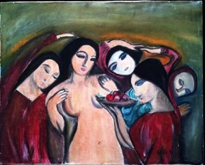 Lilita - Maria Clara Domingues - Quadro, Pintura Óleo sobre Tela, Assinado