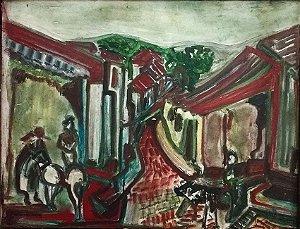 Camargo -  Quadro, Pintura Óleo sobre Eucatex, Assinado, Paisagem Urbana