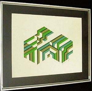 Bianchi Netto - Quadro, Pintura Sobre Papel Texturizado, Assinada e datada 1978
