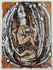 Agi Straus - Quadro, Pintura Original Sobre Suporte De Fibras, Assinada, Emoldurada