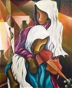 Sergio Ramos - Quadro, Pintura Cubismo Surrealista, Óleo sobre Tela - 1990 - Artista Catalogado no Louzada