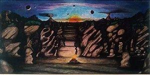 Eric Jiani - Quadro, Pintura Surrealista,  Planeta Tip-top, Óleo sobre Madeira, com Certificado