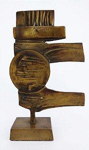 R. Saboya - Escultura, Bronze  Abstrato