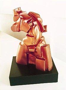 José Guerra - Grande e Importante Escultura Em Bronze no Estilo Futurismo