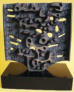 Hugo Rodrigues - Escultura Em Bronze 20 x 20 cm -´86