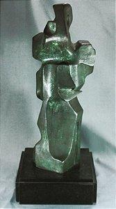 Virginia Sé - Escultura Modernista Em Bronze Assinada 54cm.