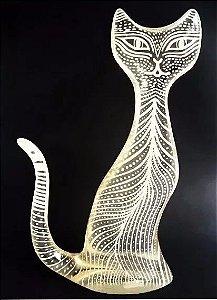 Palatnik - Grande Escultura Cinética Assinada, Figura de  Gato - 40cm