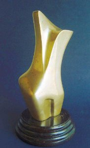 Franklin - Escultura Em Bronze - Figura Feminina - Assinada