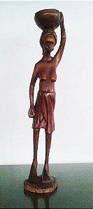 Escultura em Madeira Assinada - Moçambique, Anos 1970