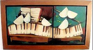 Beth Turkieniez - Quadro, Pintura Óleo S/ Tela Assinada, Diptico