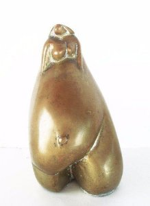 Beth Turkieniez - Escultura Bronze Representando Maternidade