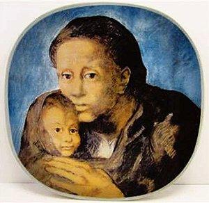 Pablo Picasso - Prato com a Obra Maternity - Maternidade