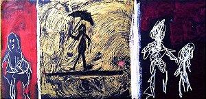 Augusto Herkenhoff - Técnica Mista Sobre Cartão Assinado