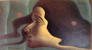 Lucílio Albuquerque - Pintura Oleo sobre Eucatex,  Estilo Art Nouveau, Emoldurado