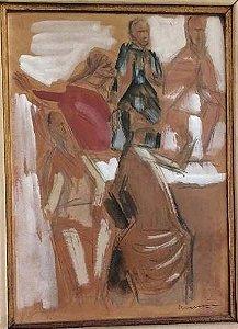 Emeric Marcier - Quadro, Pintura em Técnica Mista sobre Eucatex