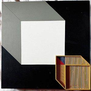 Walney De Almeida - Geométrico Técnica Mista Sobre Madeira, Colagem