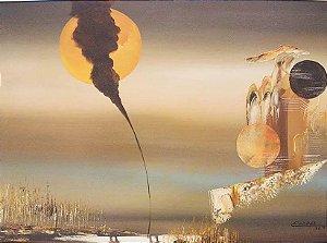 Esdras - Quadro, Pintura Surrealista Óleo S/ Tela, Assinado, Emoldurado