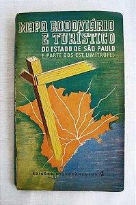 Mapa Rodoviário e Turístico São Paulo e Estados Limítrofes, 1952