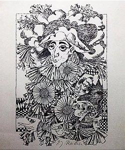 Eva Johanna Rubin - Gravura Litografia Original Arlequim
